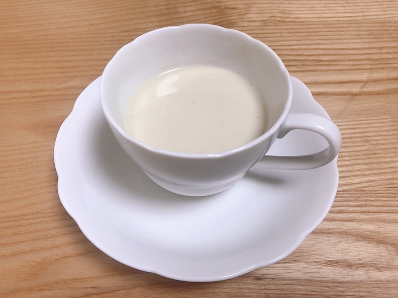 豆乳を加える