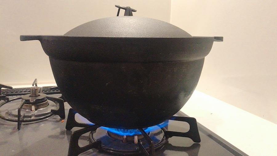中火で沸騰するま加熱します